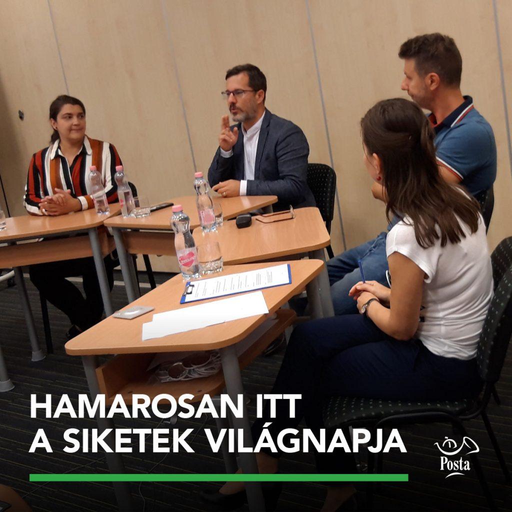 Közös program a Magyar Postával a siketek világnapja alkalmából