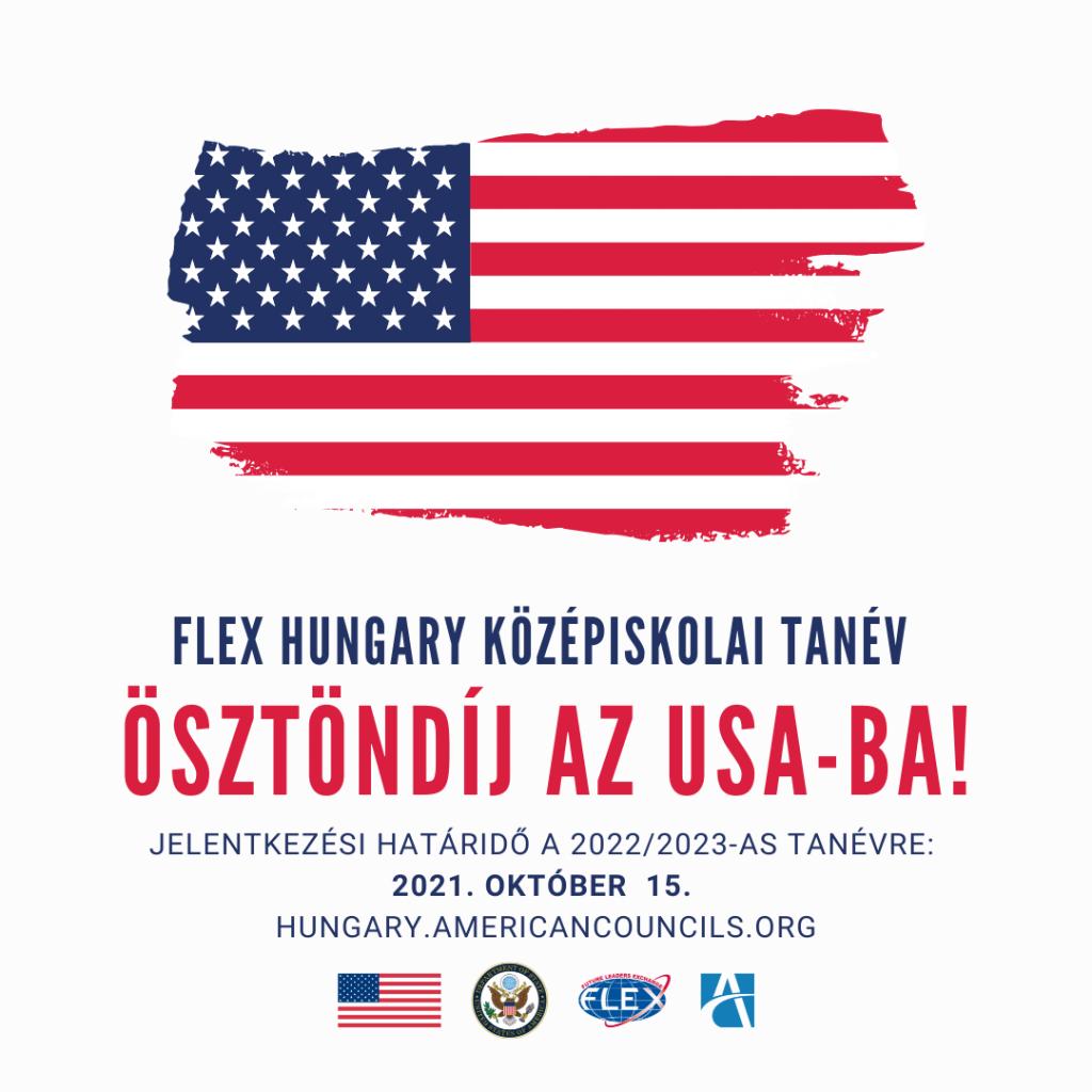 PÁLYÁZATI LEHETŐSÉG – FLEX HUNGARY, ÖSZTÖNDÍJ AZ USA-BA!